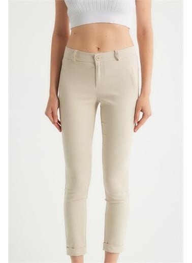 Robin Robin Dar Kesim Kumaş Pantolon Taş Taş